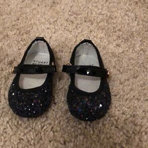 Baby black sequin shoes size 1